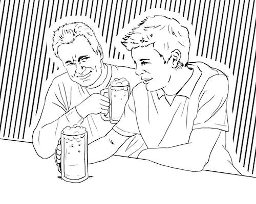 Father-son bonding could include a fun run to the bar, where Dad could impart words of wisdom regarding how many mugs of beer his lightweight son should drink. If Minn. lowered its drinking age, it would allow bar drinking like this for people age 18 or older.
