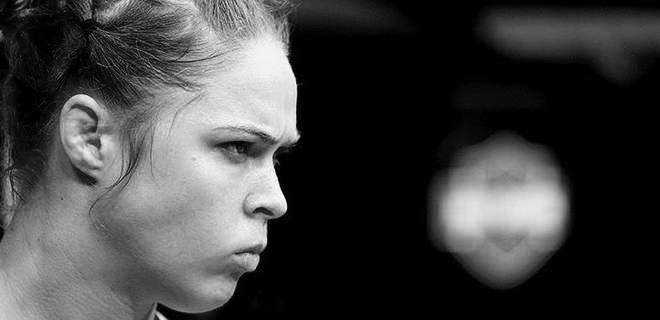 Based on this stare alone, I'm not surprised that Rousey regularly beats opponents in under a minute. That stare is just scary.