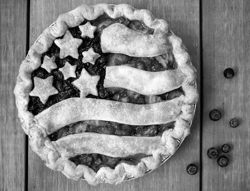 Apple pie is one of the most patriotic symobls in America. It brings inspiration to so many people, such as Don McLean, Warrant, Bob Dylan and those people who made the movies. It is ingrained into our culture. You could say that apple pie would not exist without America (please ignore the fact that the pictured pie is in fact not apple). Courtesy of Tiny Pies