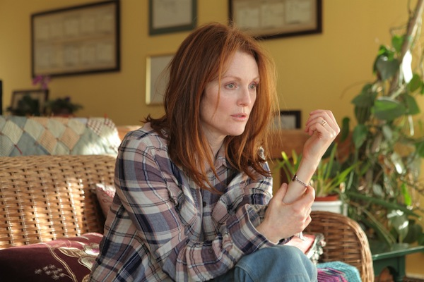 "Dr. Alice Howland, played by Julianne Moore, is a linguistics professor learning to live with Alzheimer's in ""Still Alice."""