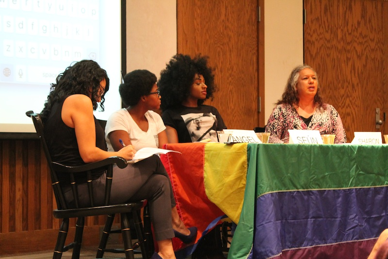 "The panelists at the Trans POC panel answered audience questions that were anonymously submitted via a text line and using ""#TUTransPOC"" on social media."