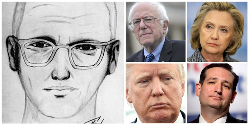 Which one of these presidential candidates looks most like the infamous Zodiac Killer?