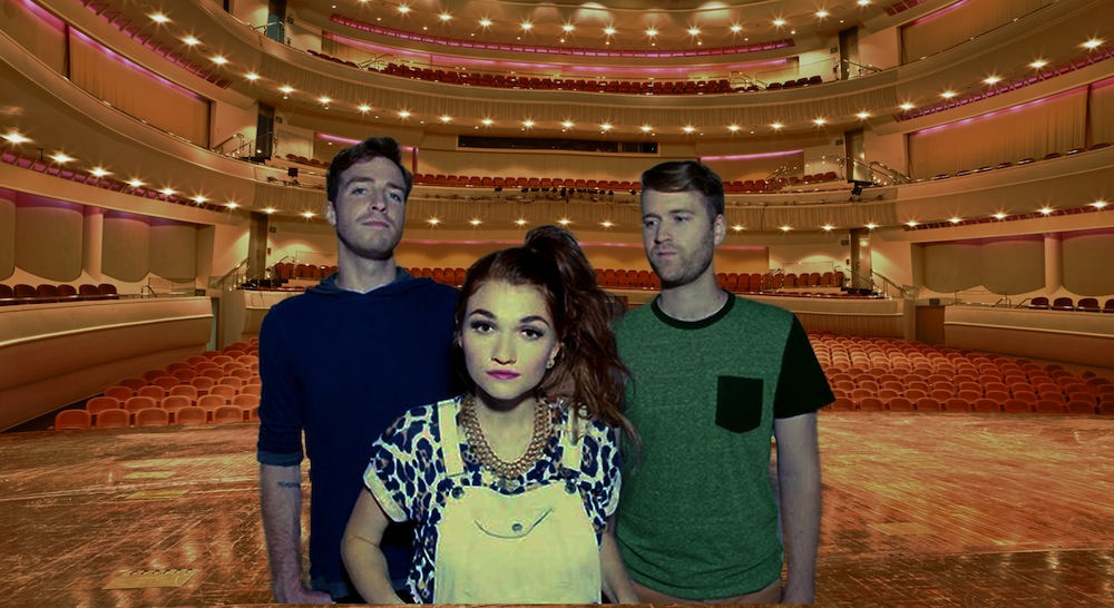 Misterwives played in front of an empty stadium over spring break.