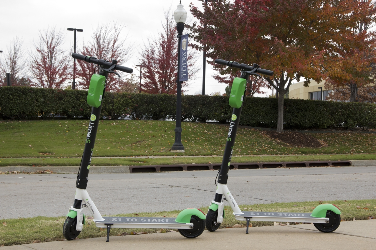 Scooters roll into Tulsa and onto campus – The Collegian